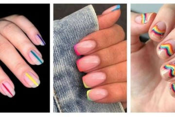 国外24种时尚大气彩虹指甲设计